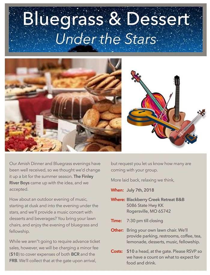 Bluegrass & Dessert Under The Stars