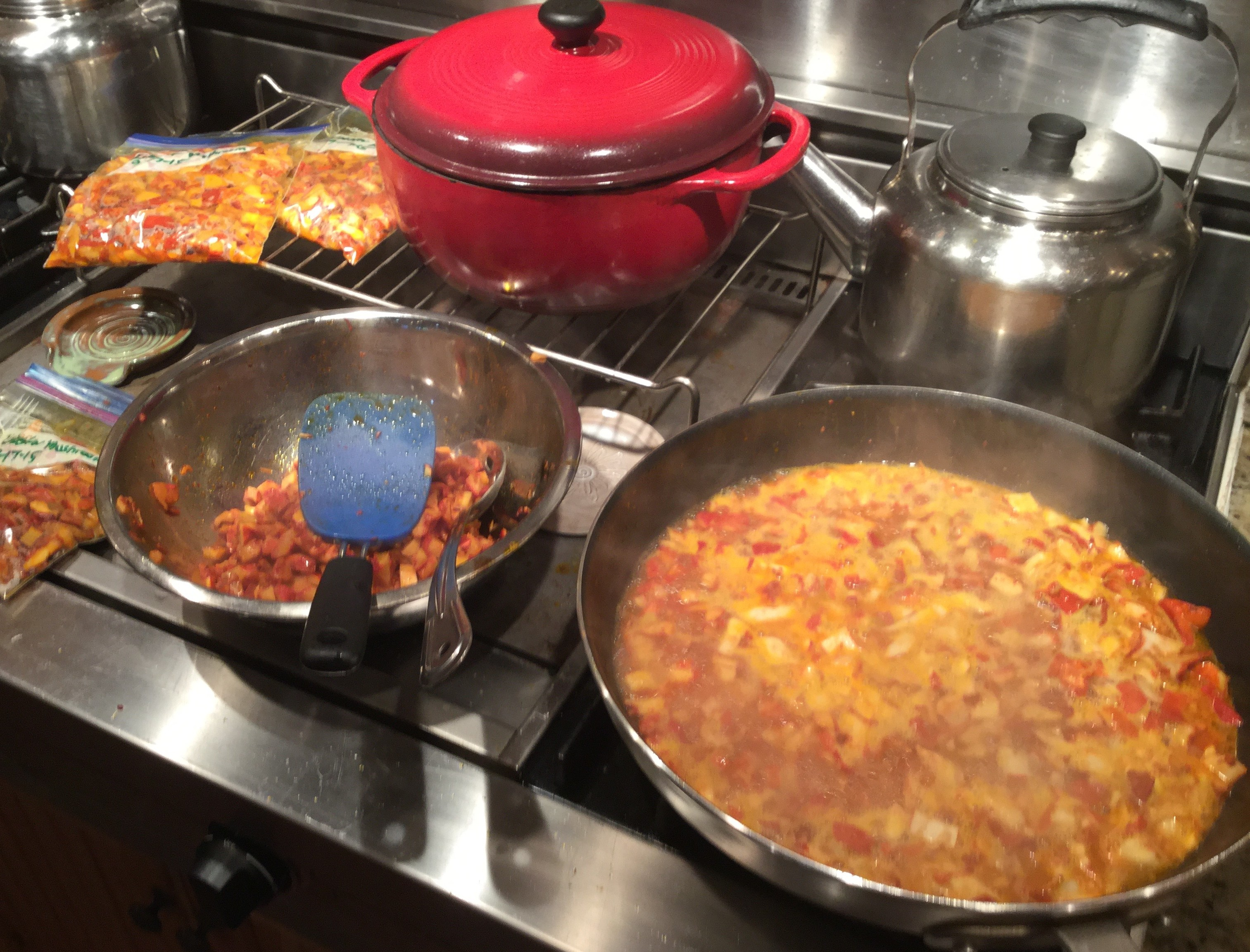 Sauteing Lobster Mushrooms