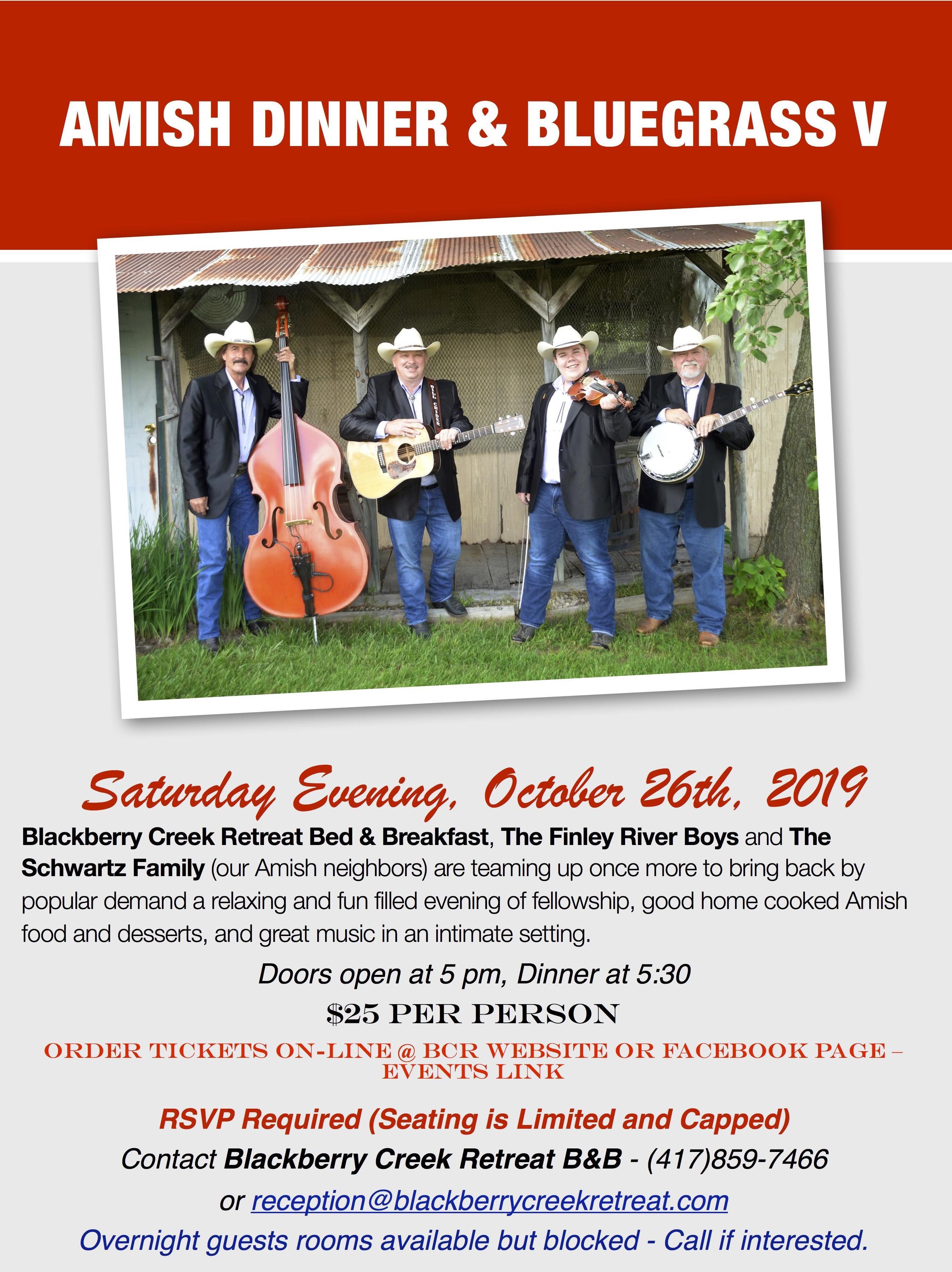 Amish Dinner & Bluegrass V