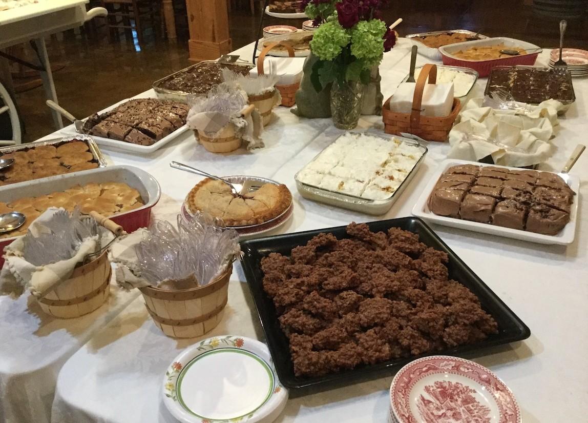 Desserts at Bluegrass Event