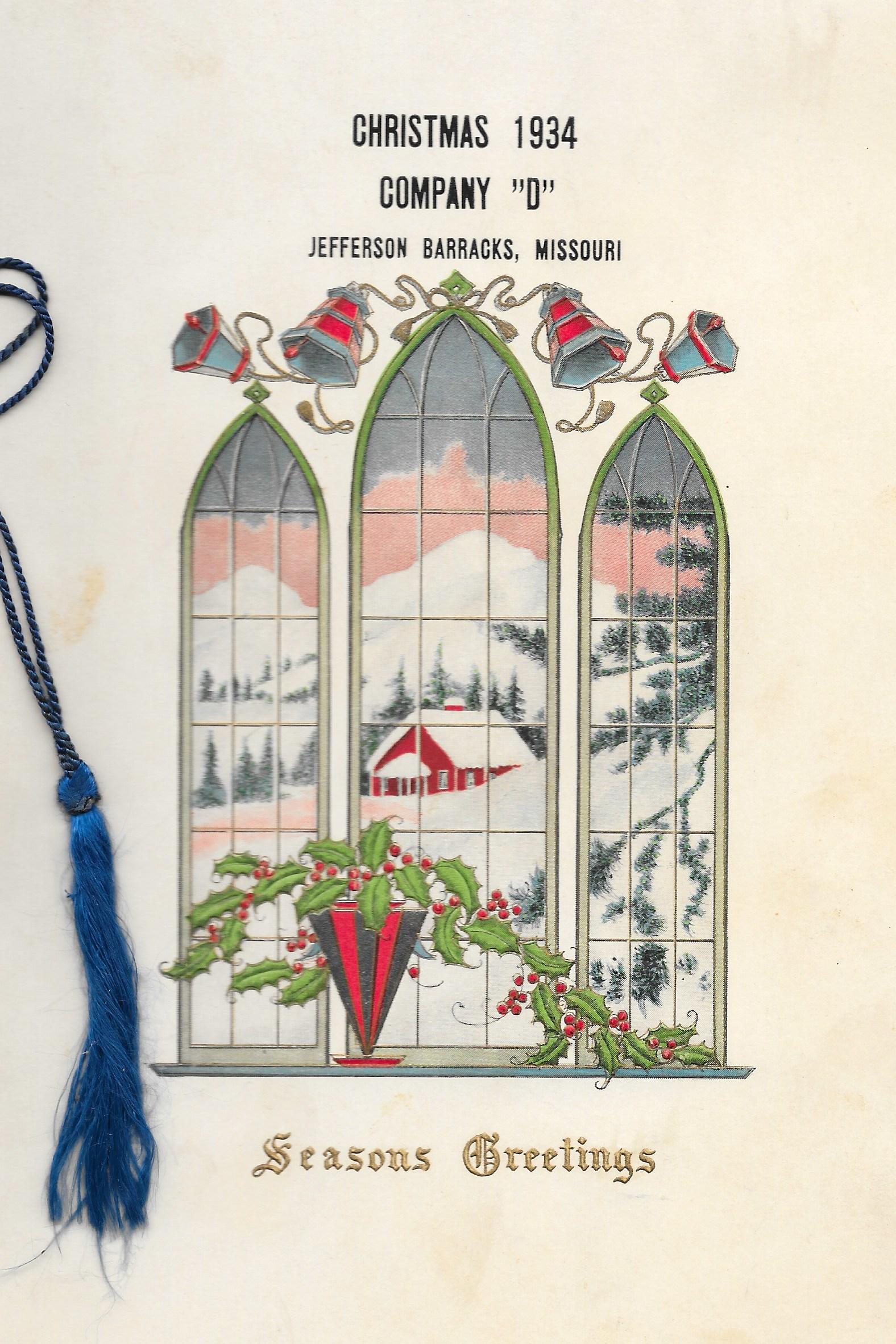 Company D Christmas Dinner 1934