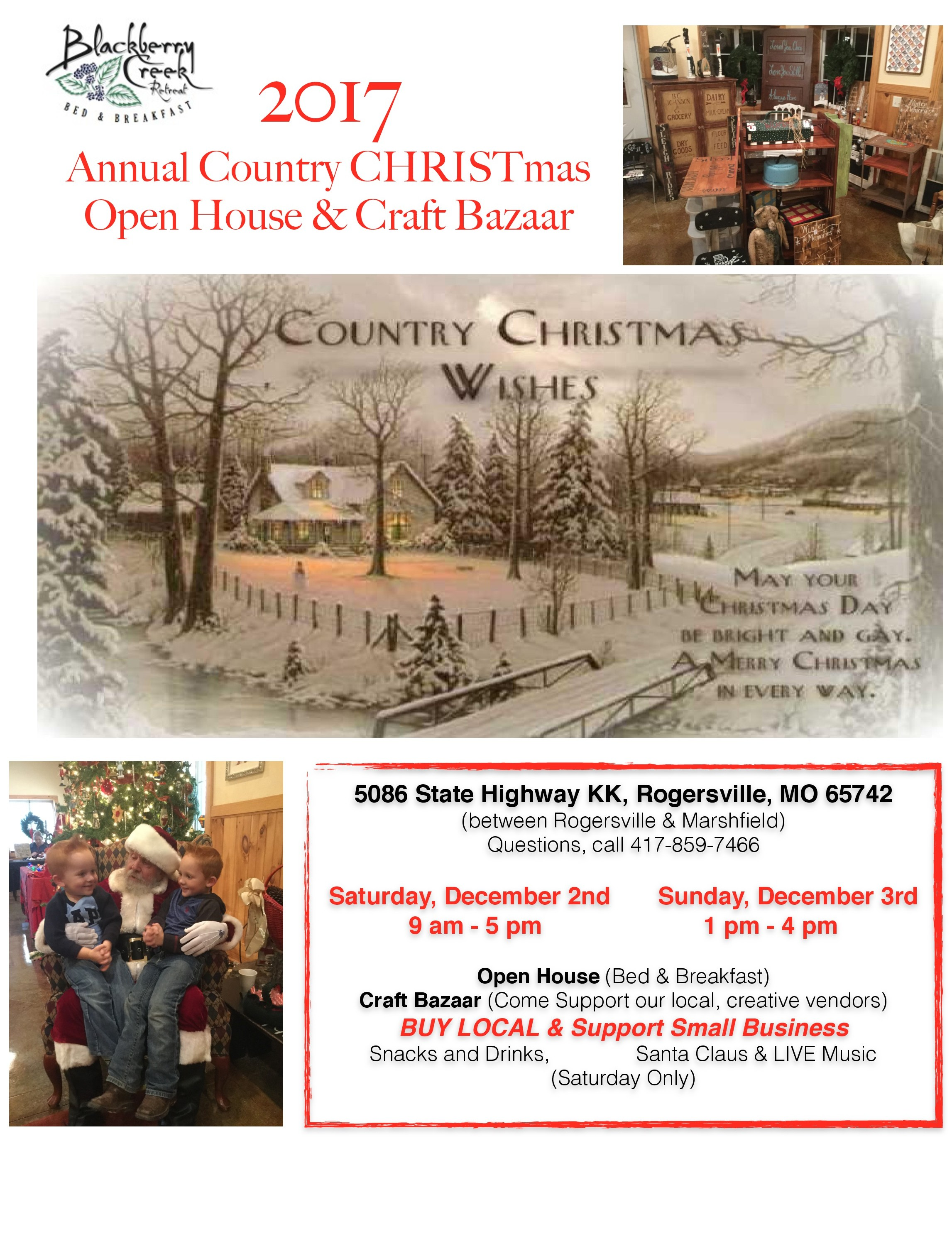Country Christmas Open House / Craft Bazaar