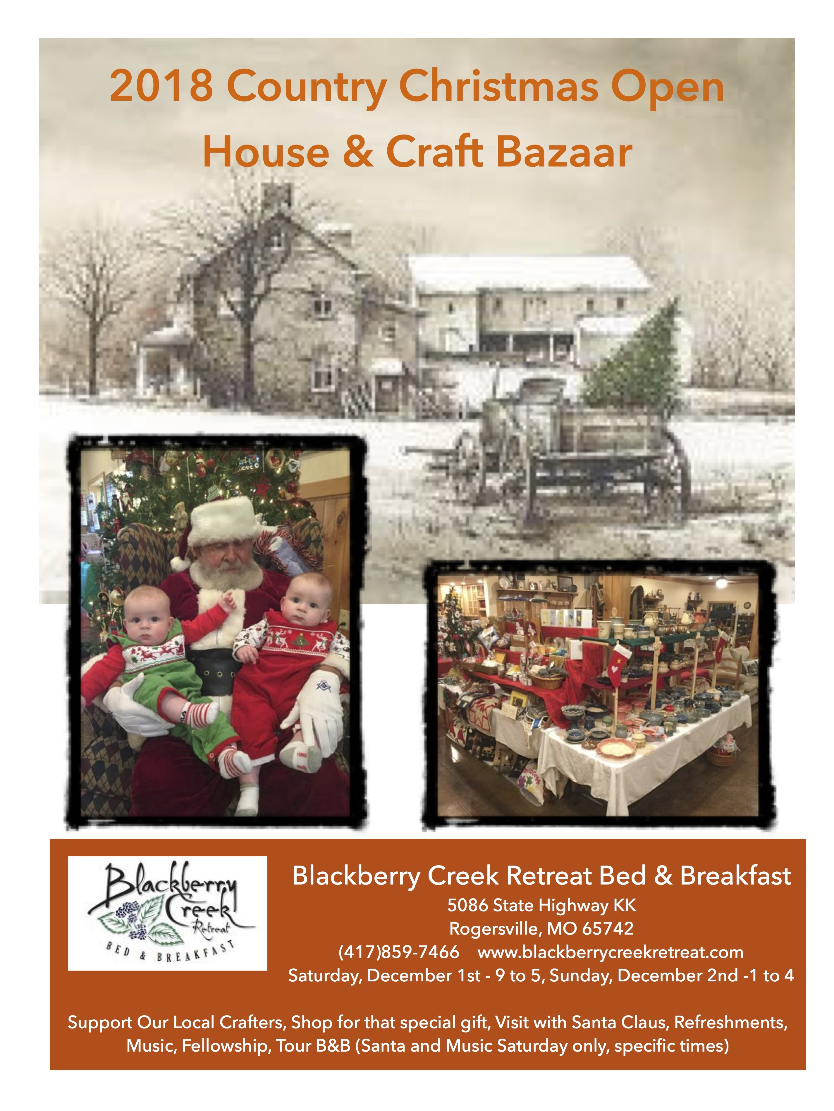 2018 Country Christmas Open House & Craft Bazaar