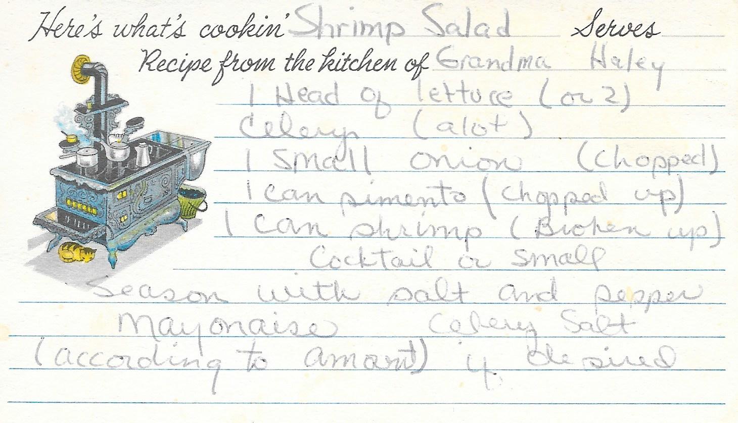 Shrimp Salad Recipe Card