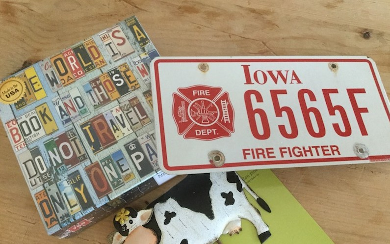 Iowa Plate and Puzzle