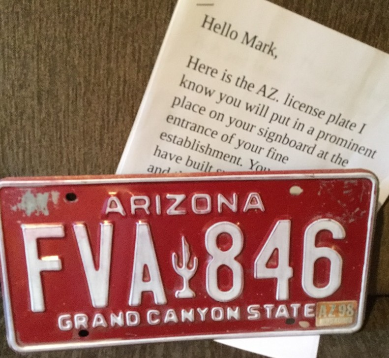 Arizona Plate for Wagon