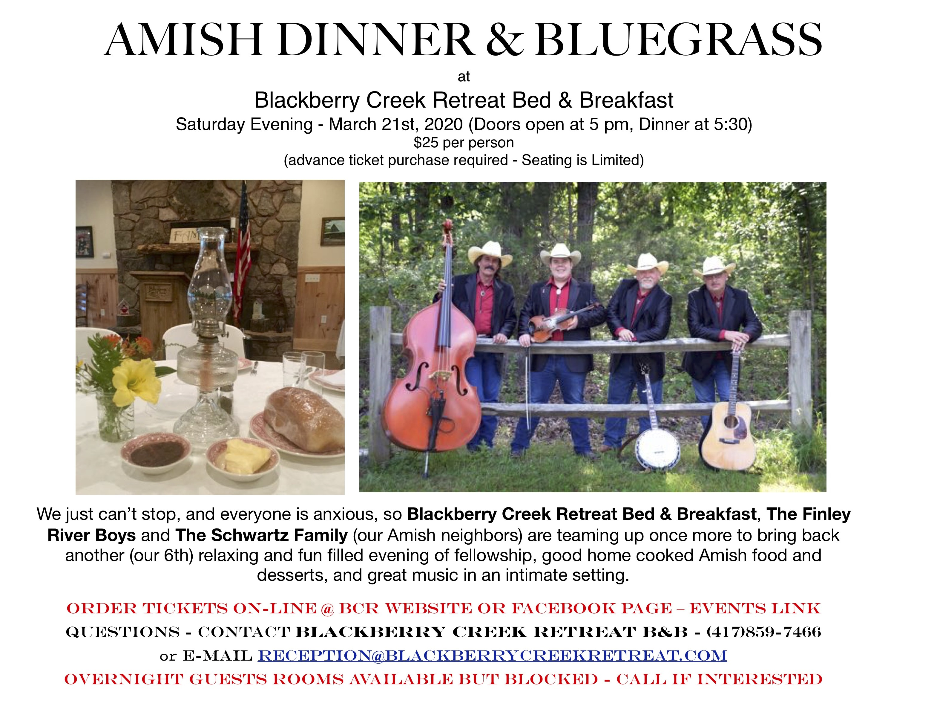 Amish Dinner and Bluegrass 6