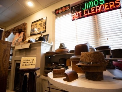 Jimos Cleaners exhibit at the Appleton Historical Society Museum