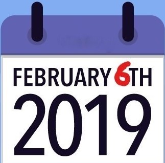 calendar page February 6, 2019