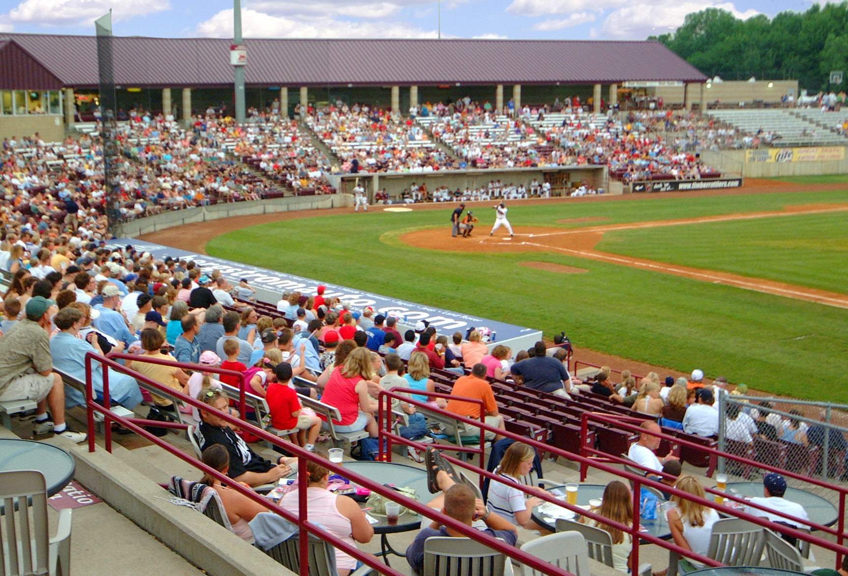 Fox Cities Stadium fans watching a Timber Rattlers baseball game