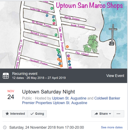 image event listing for uptown saturday night