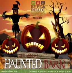 haunted barn advertisement