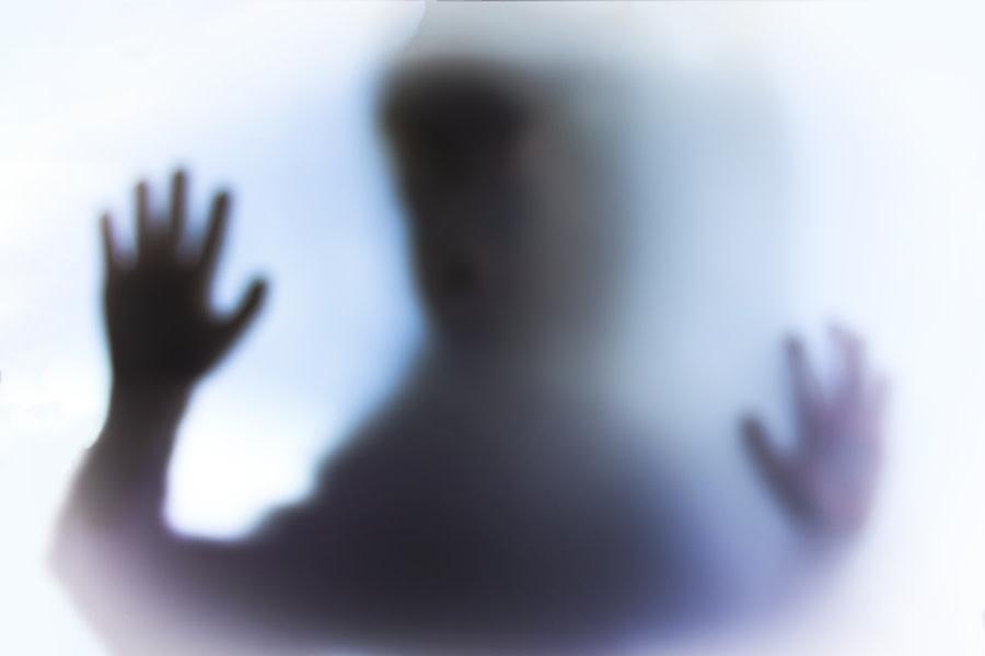 Image portraying creepy spirit silouhette