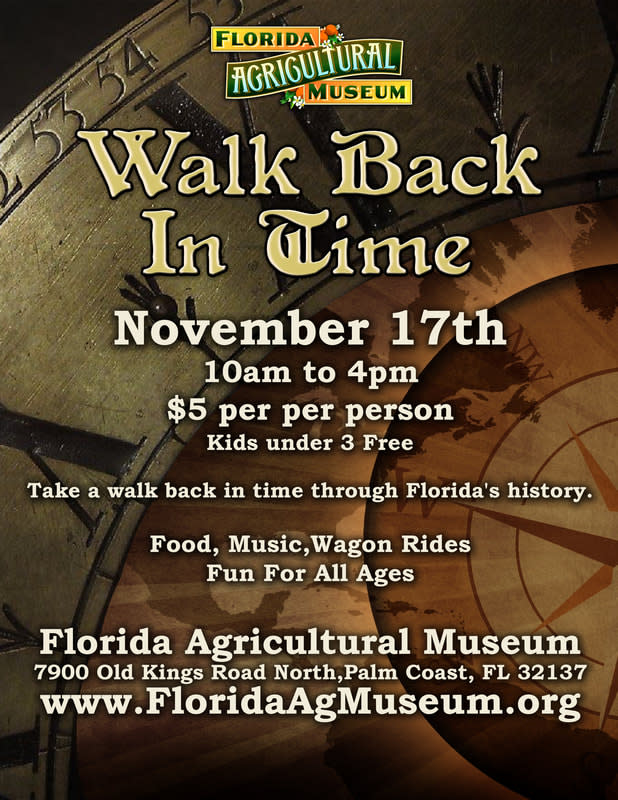 ad for walk back in time event