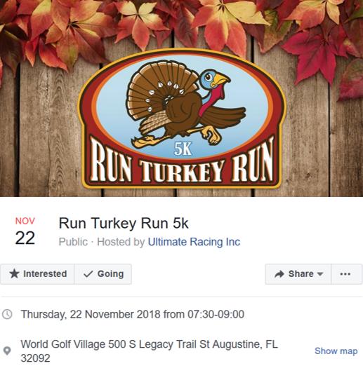 event ad for Run Turkey Run Marathon