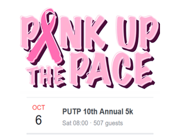 Pink Up The Pace event ad