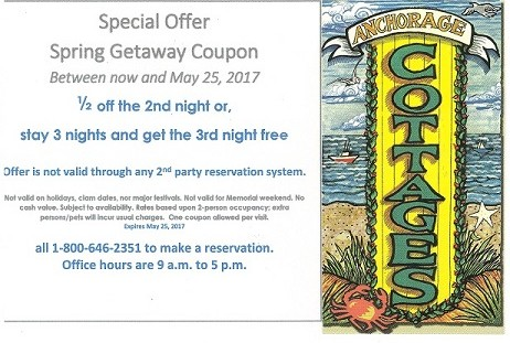 Coupon free night or 1/2 off