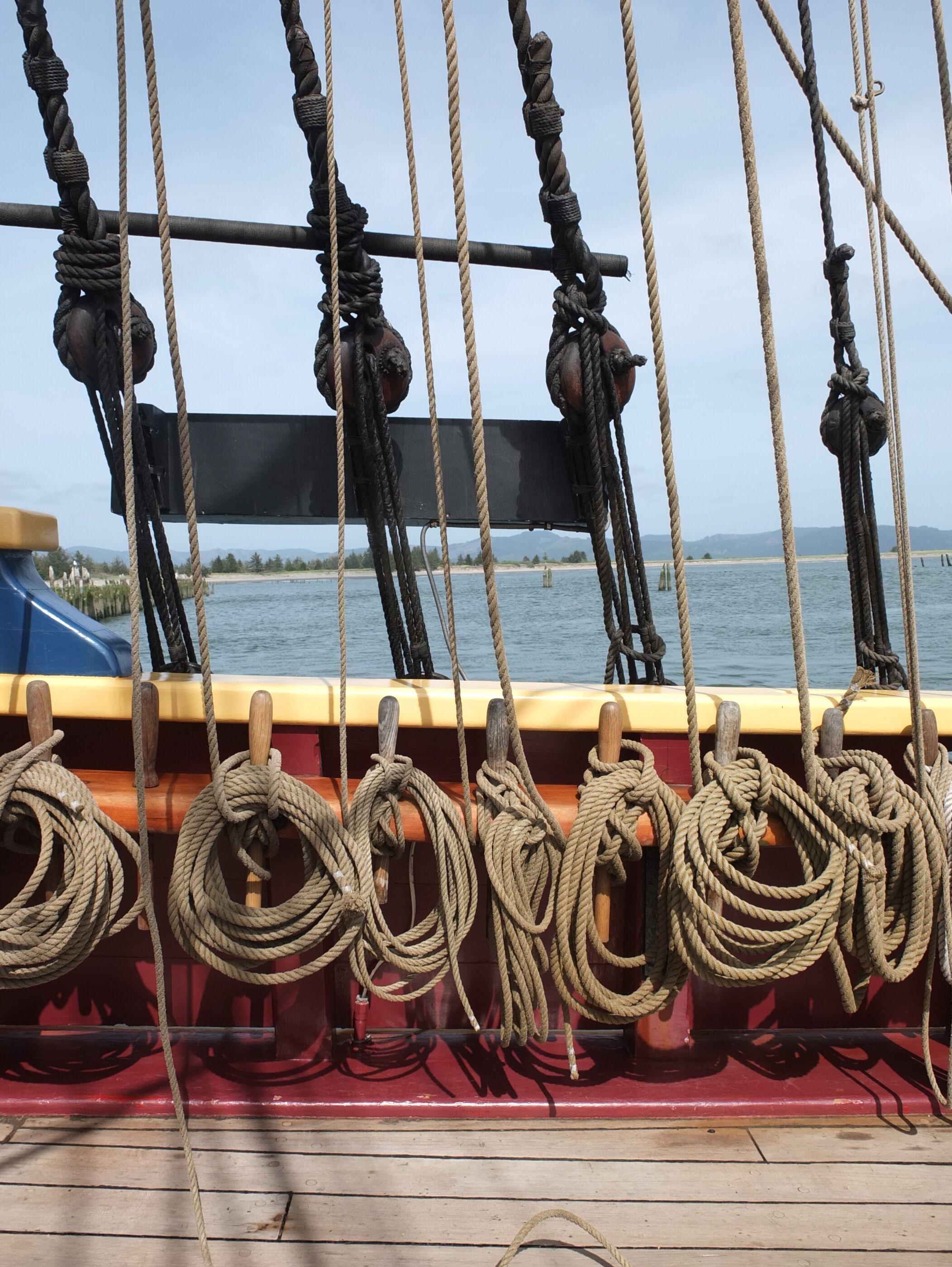 Rope aboard Lady Washington