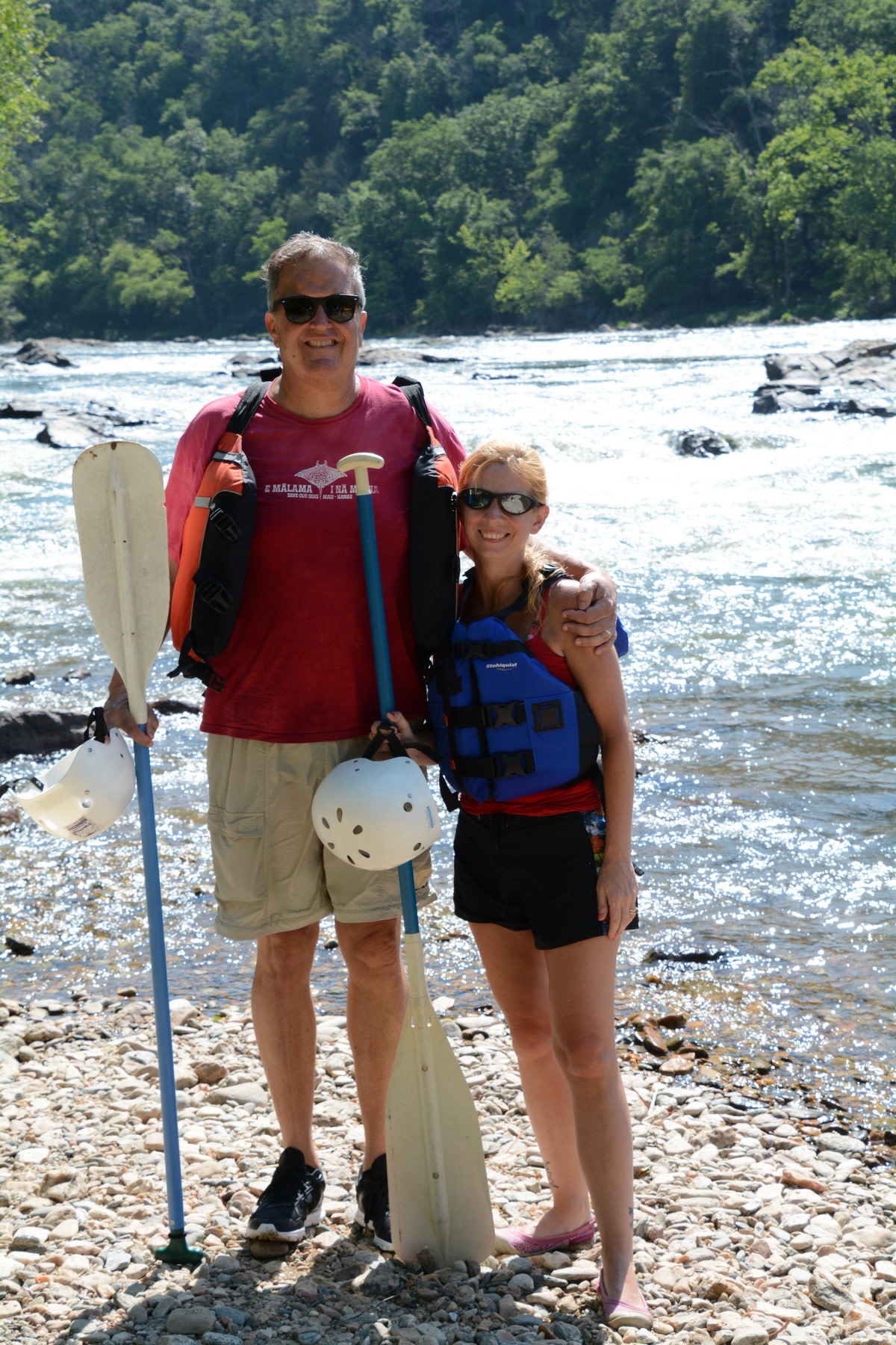 Whitewater Rafting Adventure Couple