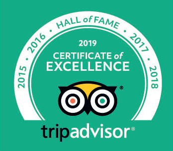 TripAdvisor Hall of Fame Certificate of Excellence Badge