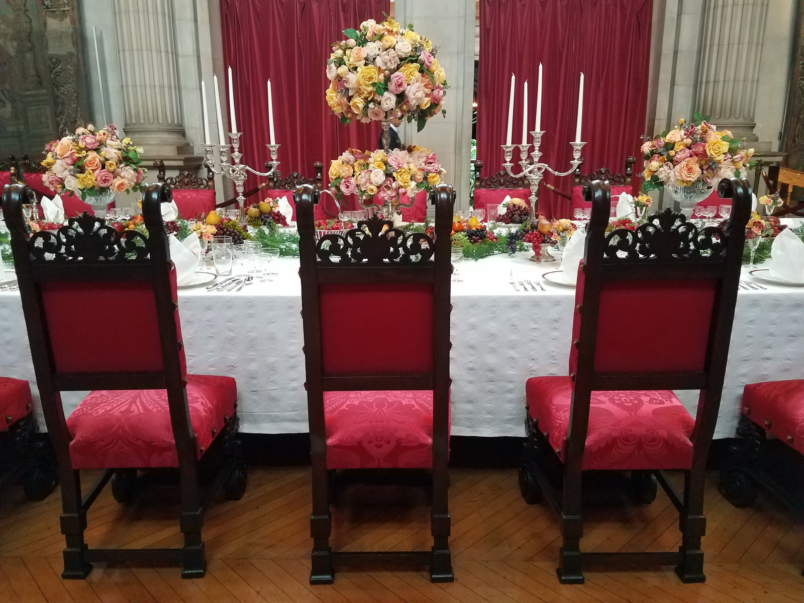 Biltmore banquet room table