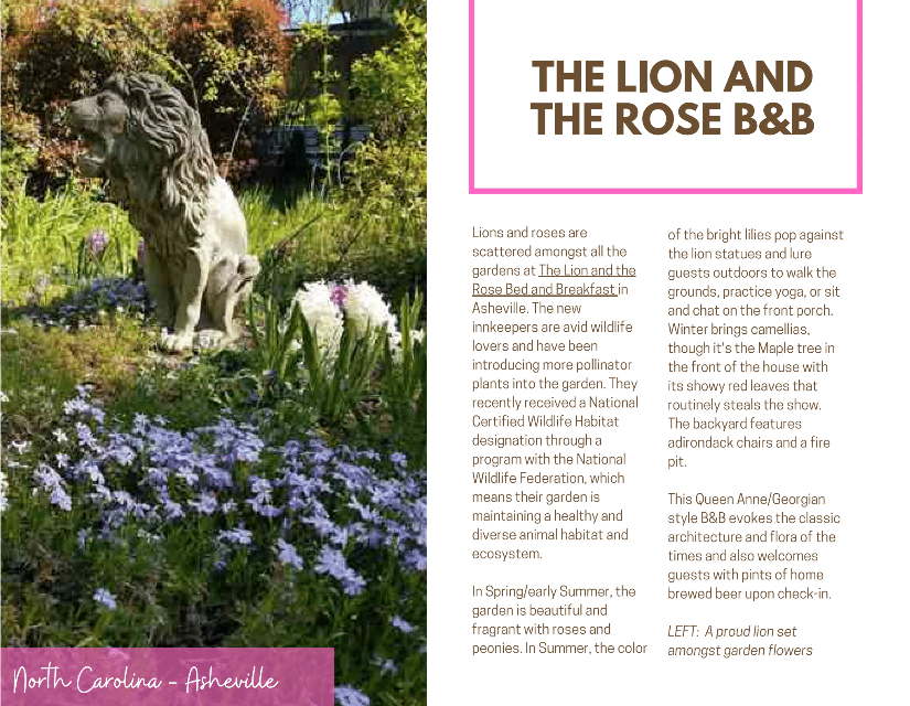 The Lion and the Rose gardens page 1