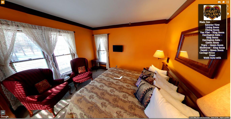 Heart of the Village Inn Virtual Tour Van Vliet King Room