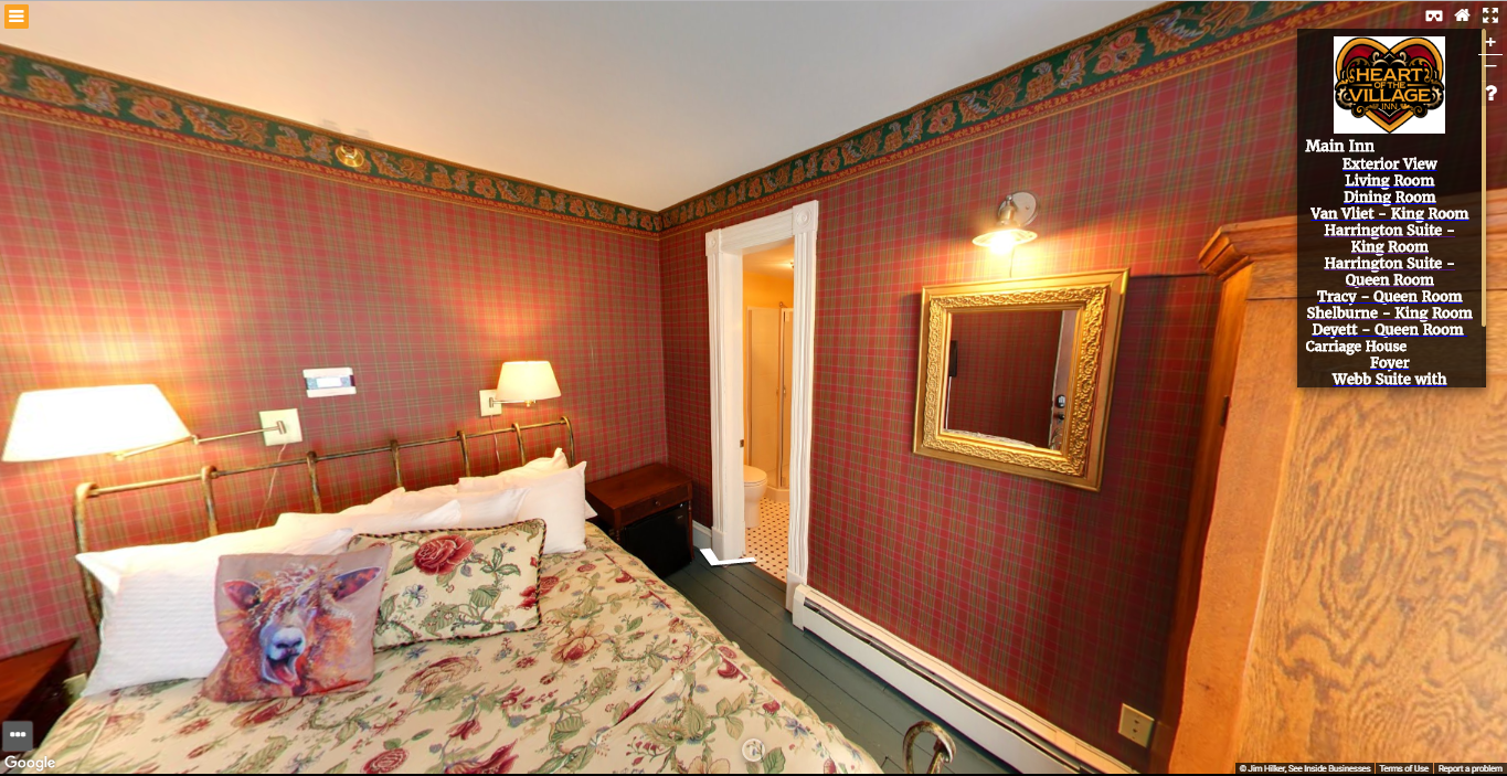 Heart of the Village Inn Virtual Tour Tracy Queen Room