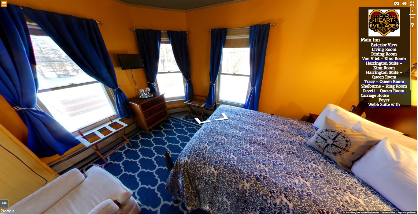 Heart of the Village Inn Virtual Tour Harrington Suite Queen Room