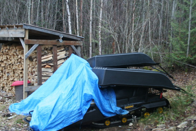 HELP GET THE BANADAD SKI TRAILS GROOMING EQUIPMENT INSIDE, Poplar Creek and Canoe Outfitting