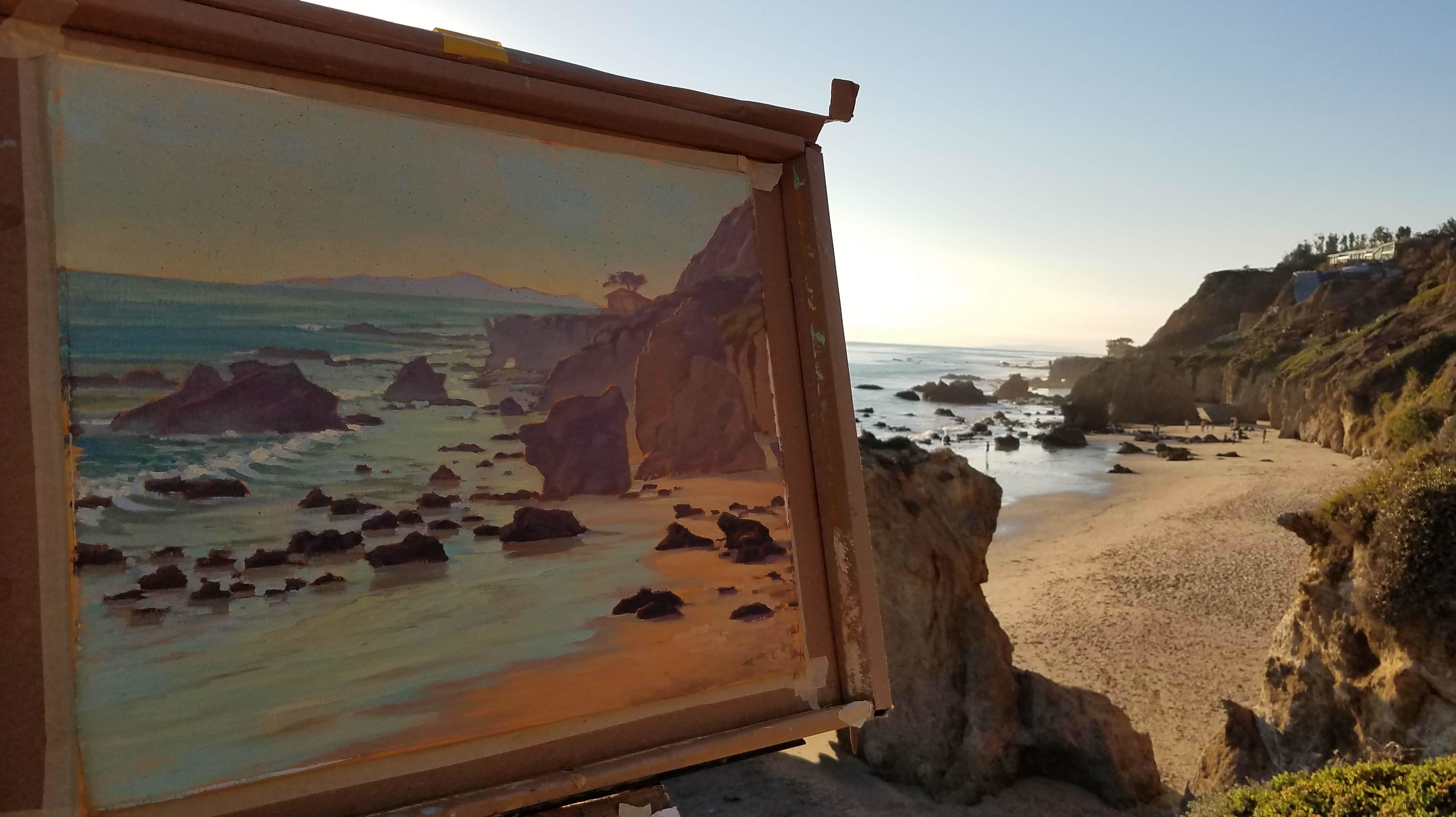 El Matador State Beach is perfect for plein air painting