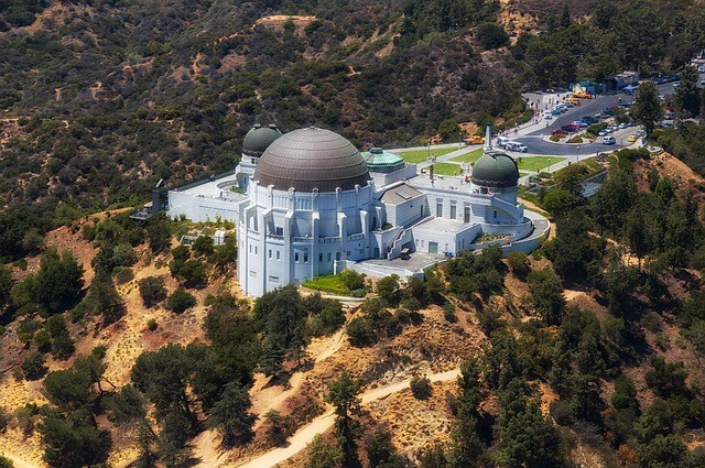 Griffith Observatory near Topanga Los Angeles science museum