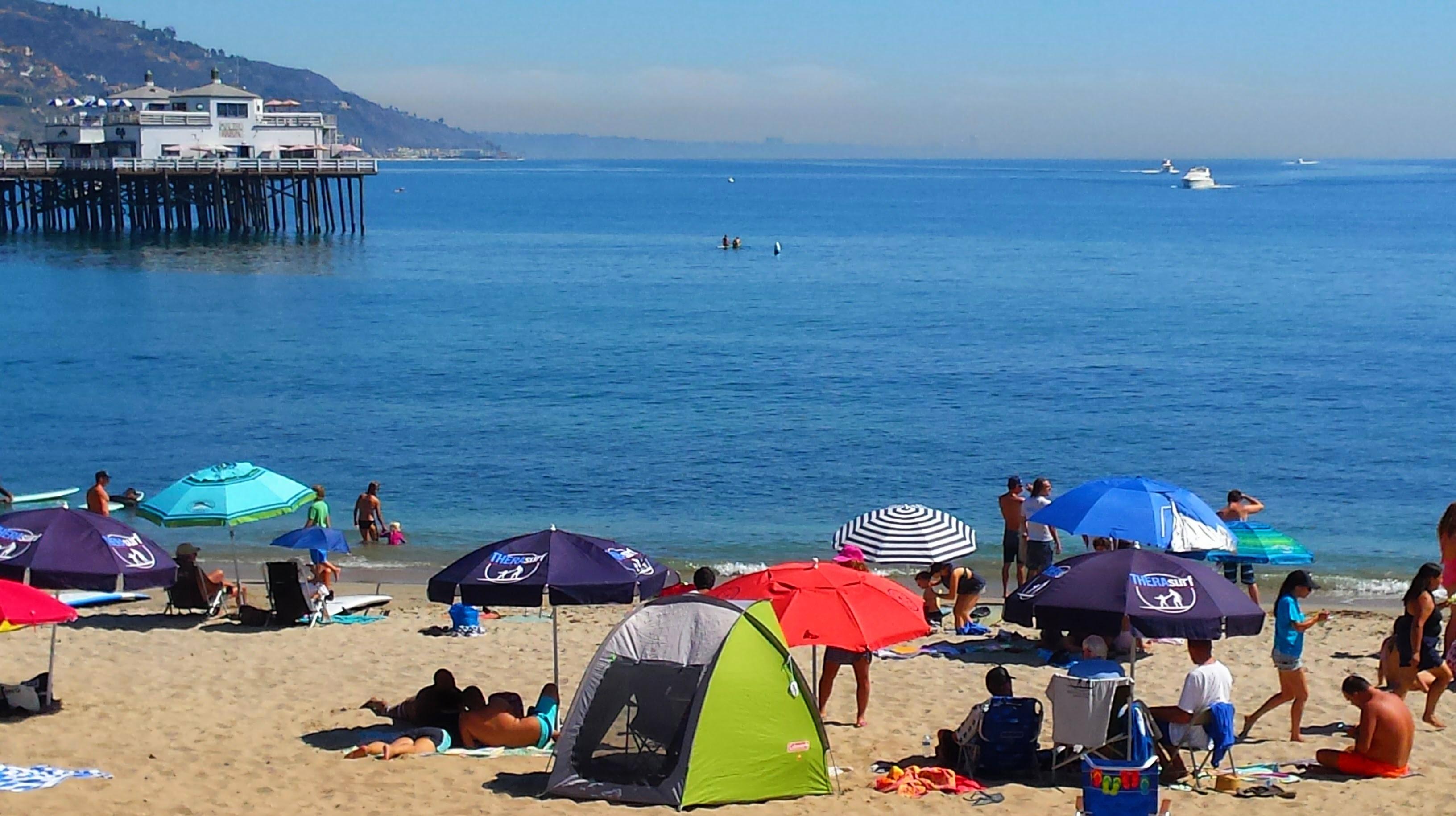 Malibu Beach and Pier on October Saturday