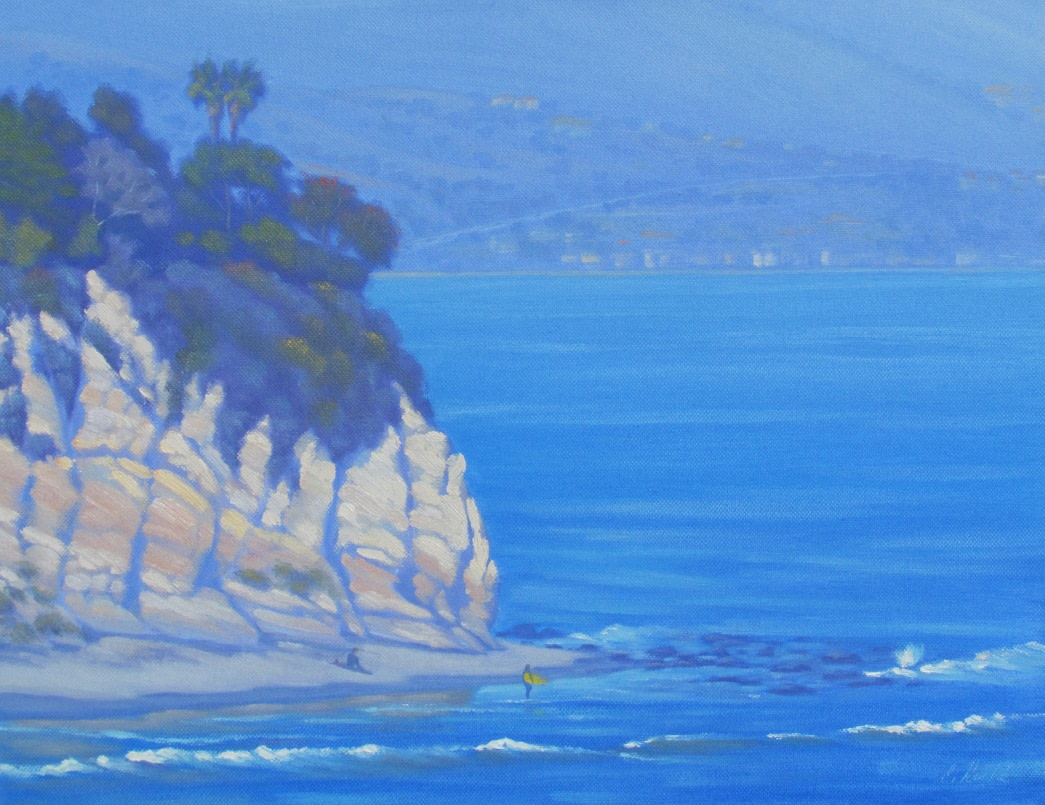 Painting of the view from Point Dume