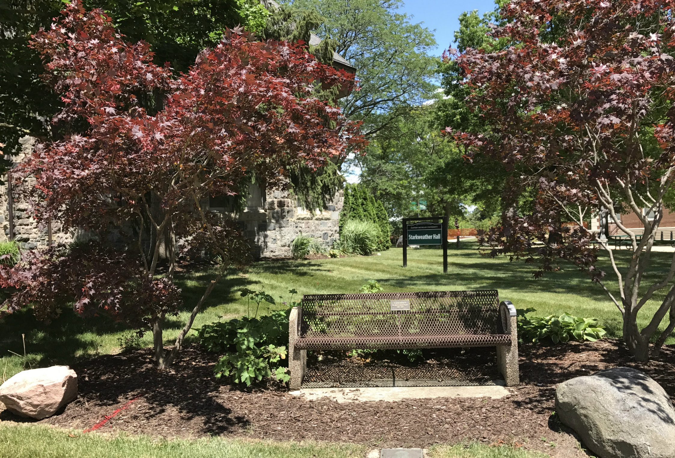 EMU campus bench