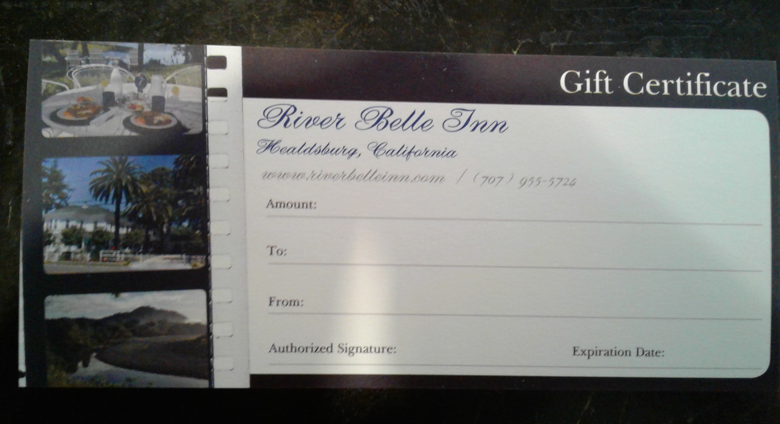 RBI GIFT CERTIFICATE