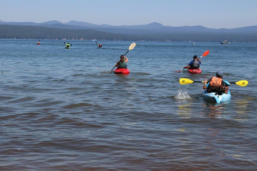 Kayaking on Lake Almanor