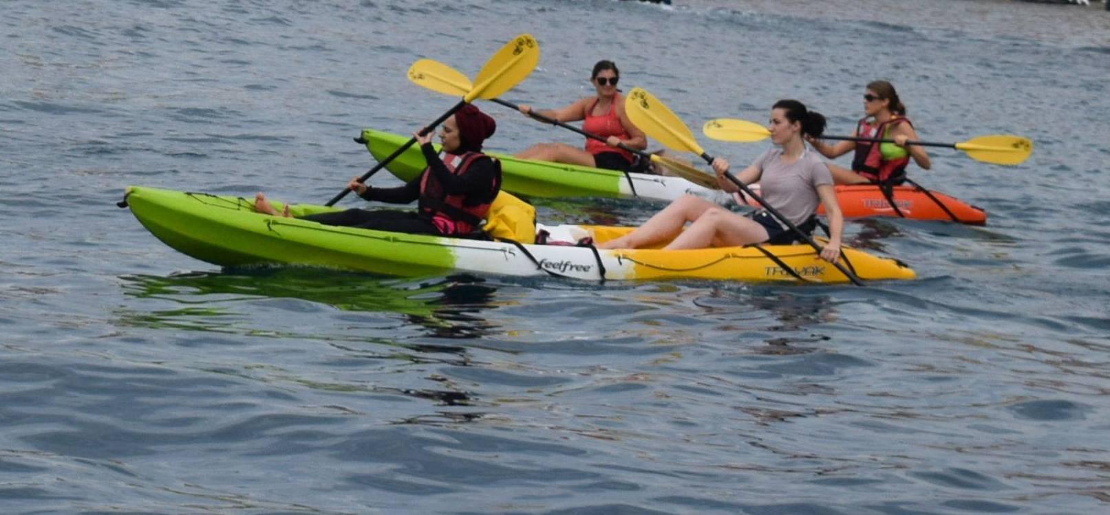 kayak poker run on Lake Almanor