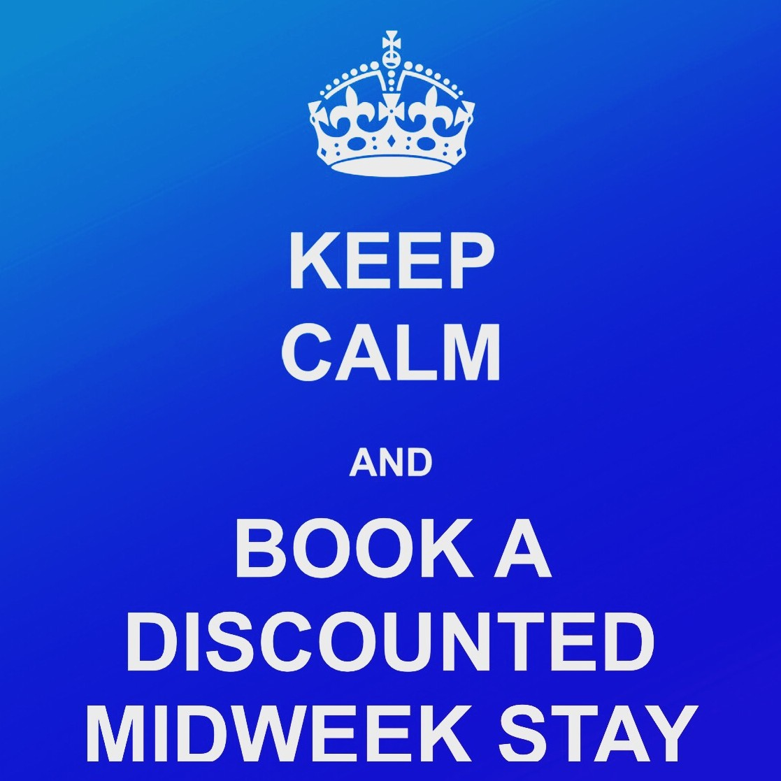 Keep Calm and Book a Discounted Midweek Stay
