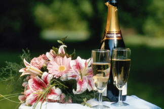 Champagne & Flowers