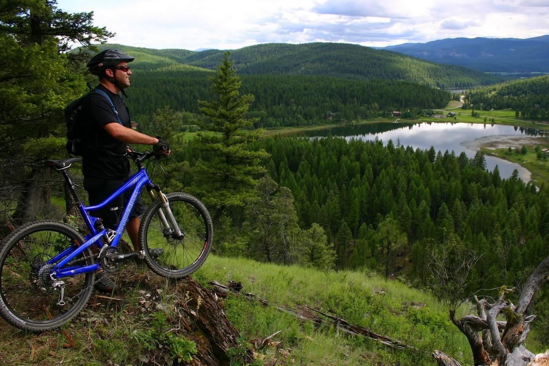 Biker on the Whitefish Trail