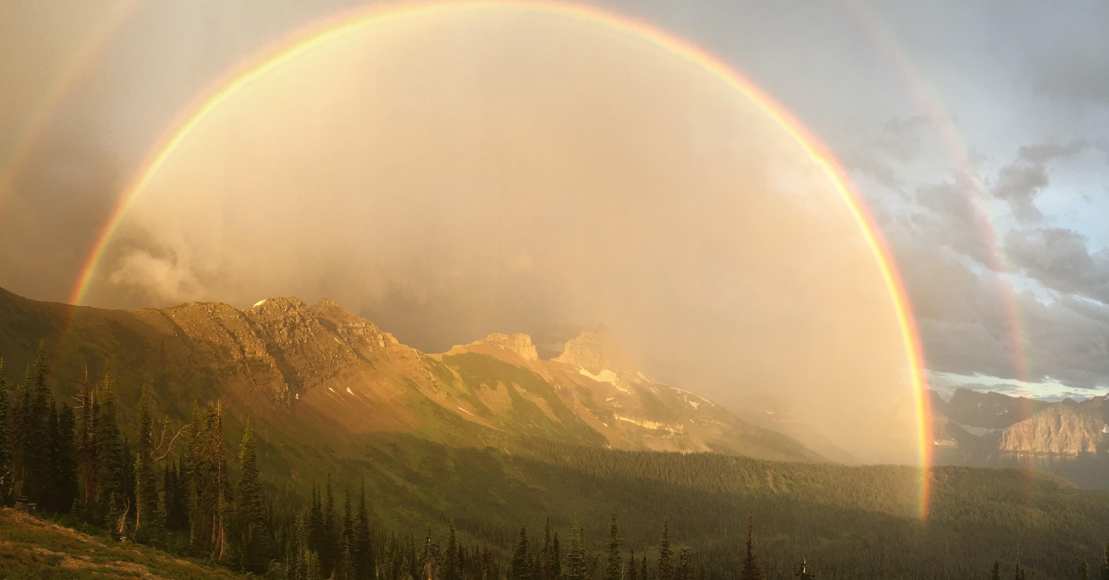 Granite Park Chalet rainbow