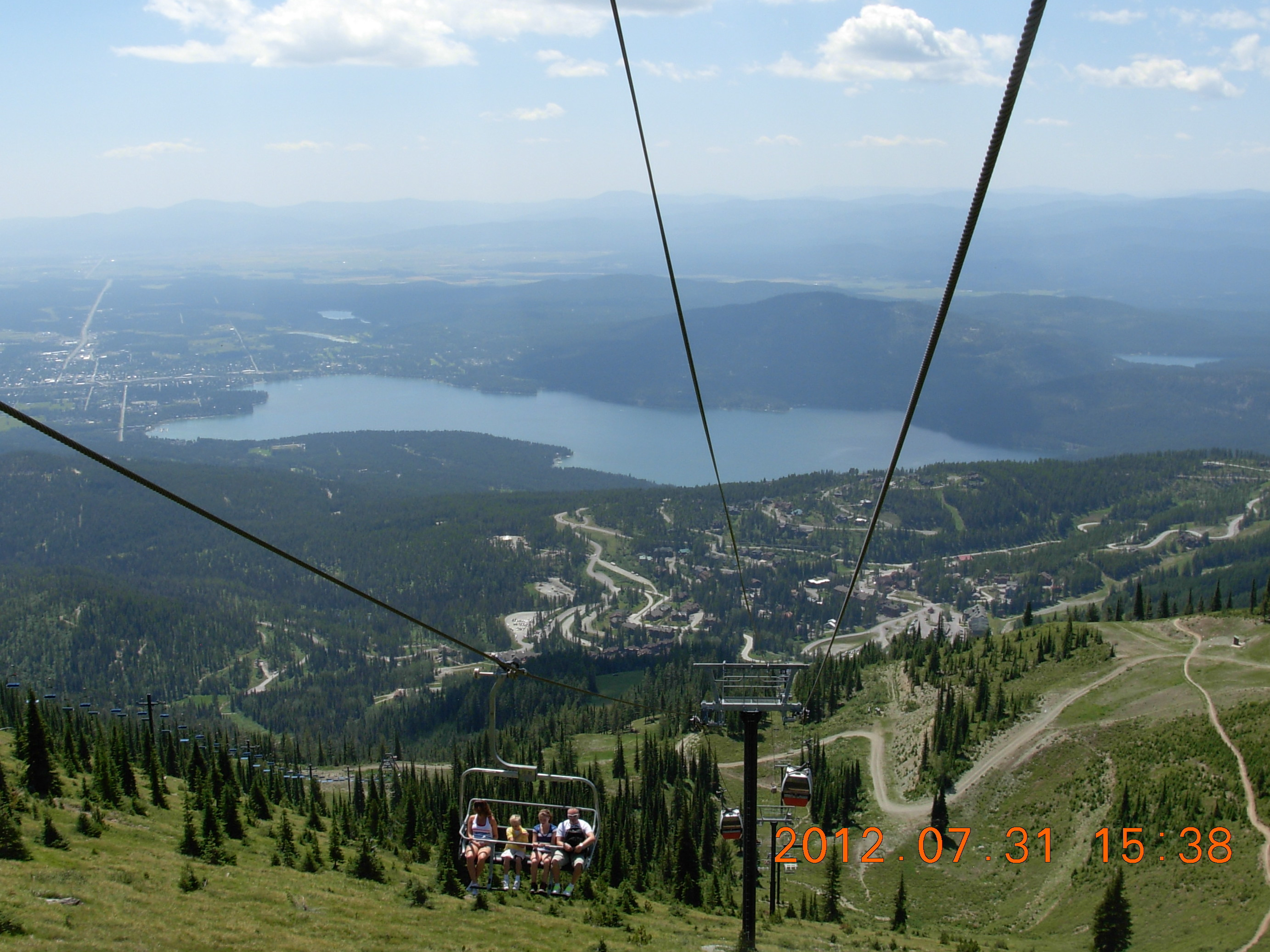 view of Whitefish from the chairlift