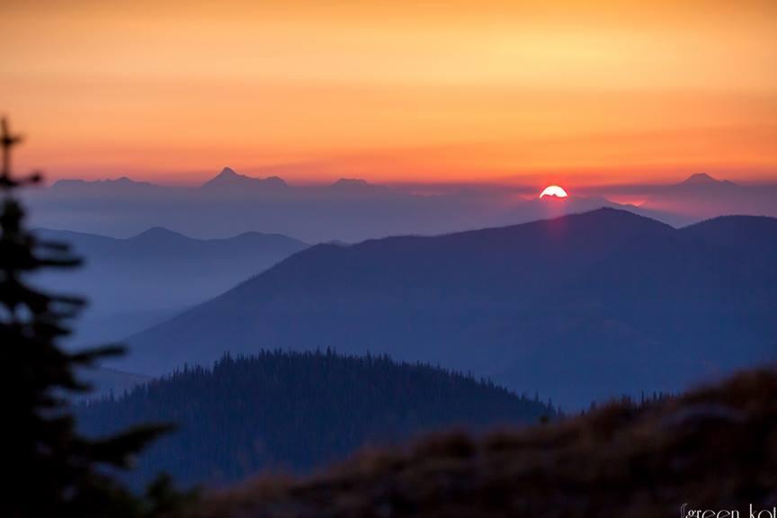 Kat Gabauer Glacier sunset