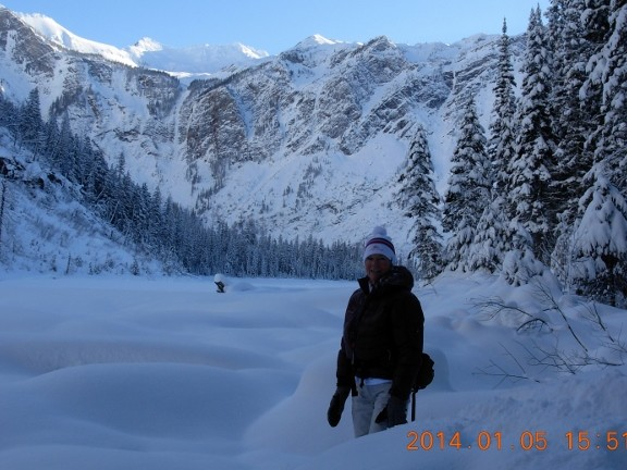 Avalanche Lake in winter