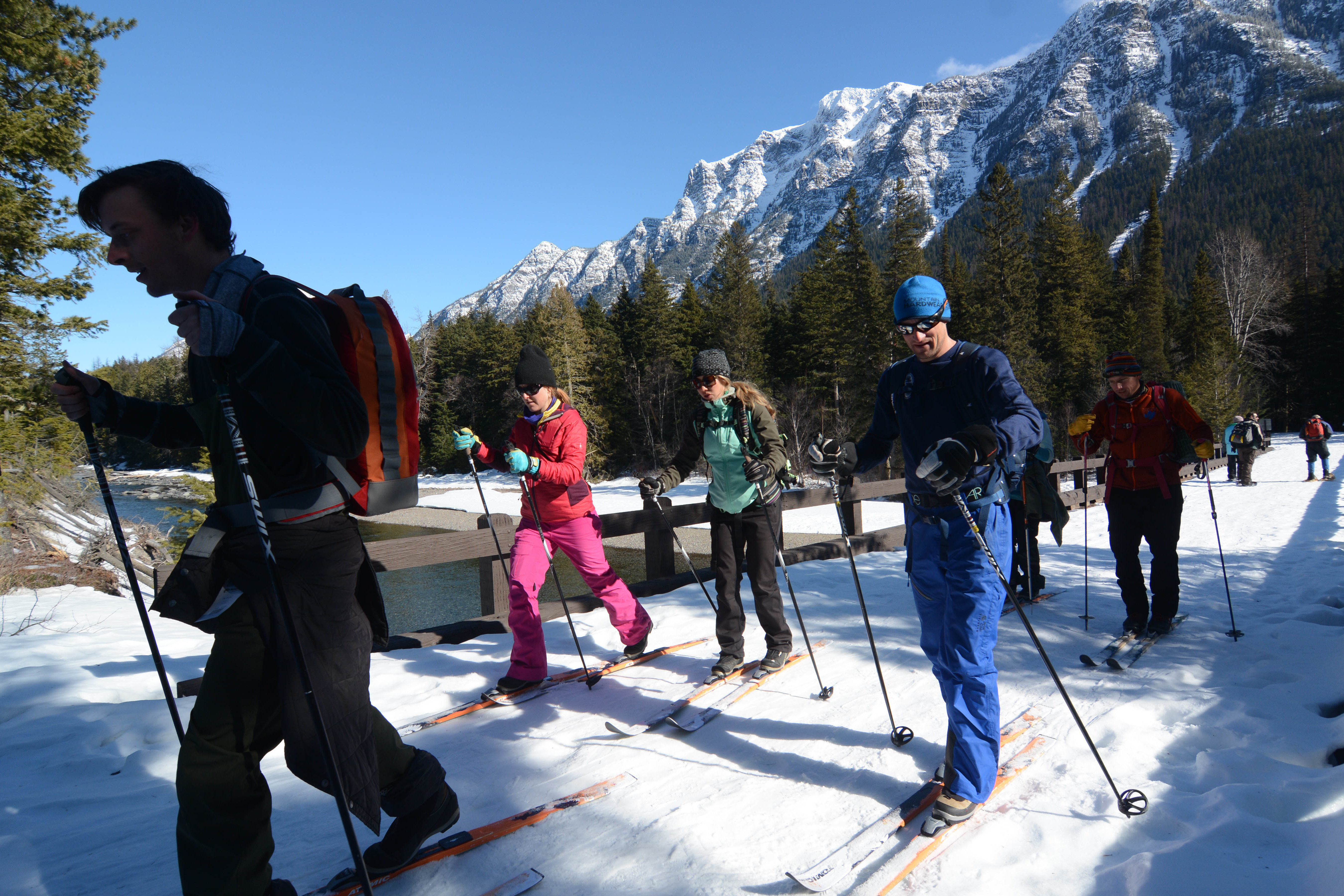 Cross country skiing in Glacier