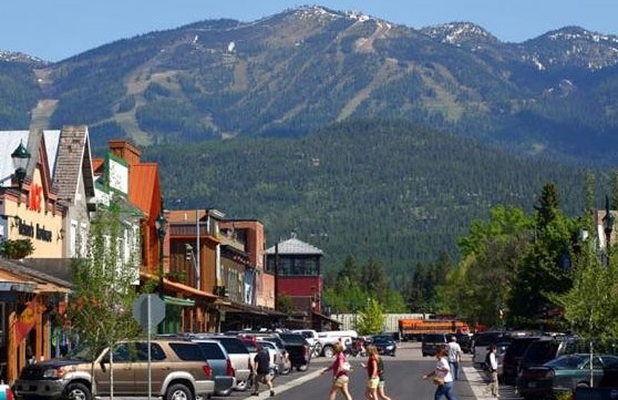 Whitefish downtown