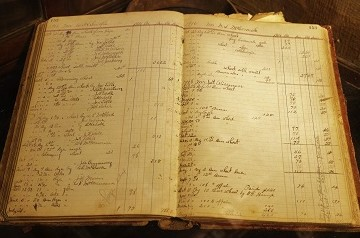 Old ledger book from Wade's Mill