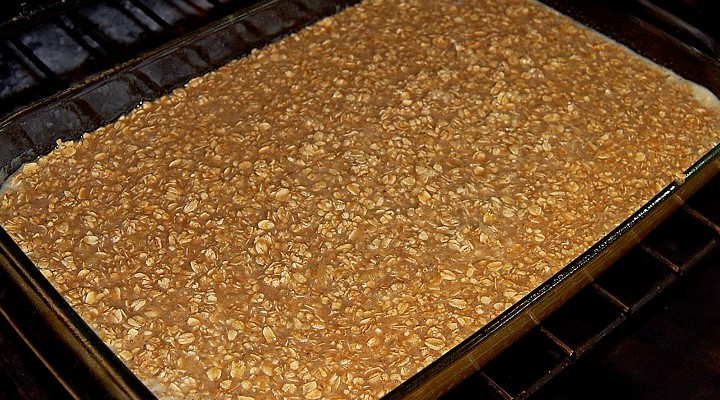 Baked Oatmeal Into the Oven
