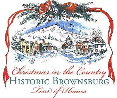 Brownsburg Christmas Tour of Home snowy village sketch